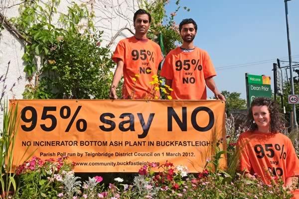 Chirag, David and Hannah supporting Buckfastleigh Community Forum